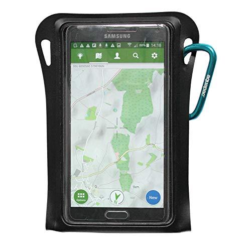 Aquapac trailpr OOF Waterproof Phone Case Étui de Protection Multifonction étanche, Noir/Transparent, S