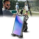 Stylebest Support de téléphone pour Chariot de Golf Support de téléphone Portable Anti-Chute réglable avec tête rotative à 360 degrés Accessoires de Chariot de Golf pour Adultes