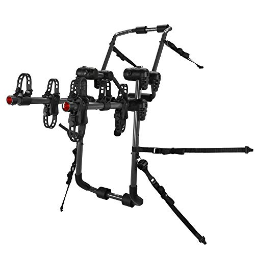 Hollywood Racks - 3-Bike Over-The-Top Trunk Mounted Rack, Trunk Bike Rack for Cars with Spoilers