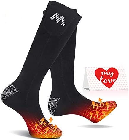 Jomst 5000mAh Heated Socks for Men Women Rechargeable Electric Socks Up to 25 Hours Heating product image