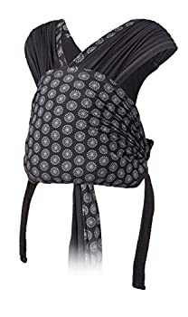 Infantino Together Pull-on Knit Carrier - Pull-on Knit wrap-Hybrid Carrier for Newborns and Older Babies Facing in Carry Position Easy-Off Side Buckle Release and Additional Privacy Cover Fabric