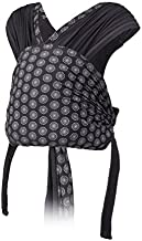 Infantino Together Pull-on Knit Carrier - Pull-on Knit wrap-Hybrid Carrier for Newborns and Older Babies, Facing in Carry Position, Easy-Off Side Buckle Release and Additional Privacy Cover Fabric