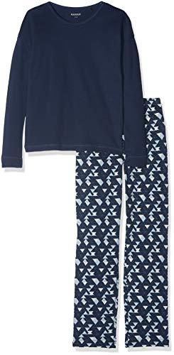 Schiesser Mädchen Family Anzug lang Zweiteiliger Schlafanzug, Blau (Dunkelblau 803), 176 (Herstellergröße: L)