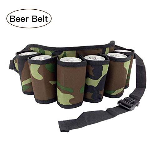 Lancei Bier Holster - 600D Biergürtel, Flaschenträger 6 Flaschen, Gürteltasche Trinken Für Outdoor-Wandercamping