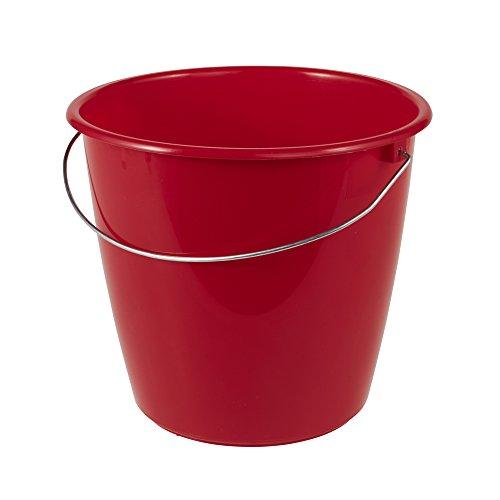 keeeper Eimer 5 l mit Metallbügel, Polypropylen, Rot