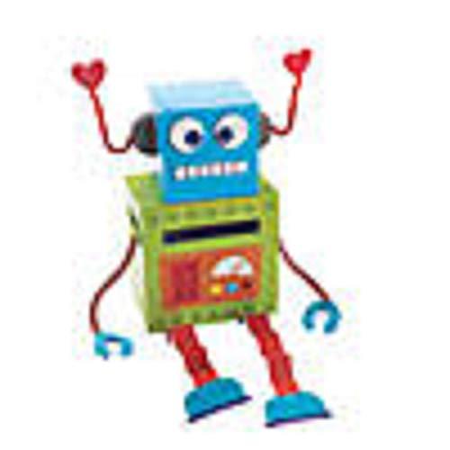 fun Valentine's Day Mailbox Robot Card Holder Box Craft Kit