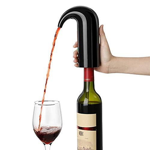 LIJIANZI Worth having - VIRADOR DE AEROADOR DE VINO ELÉCTRICA, Decantador de vinos de un tacto y bomba de dispensador de vinos, Funciones triples para el vino de aero, juego de regalos para amantes de