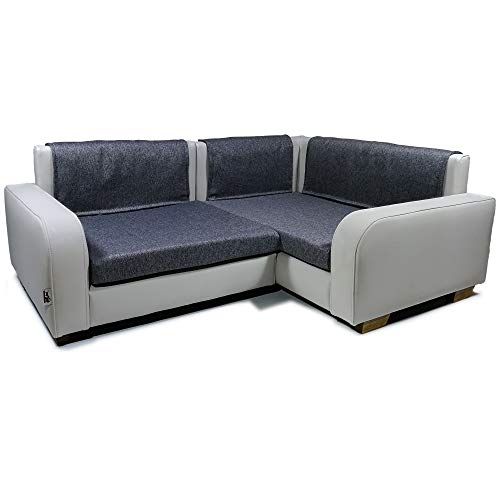 Jaukumo Vizija Thor - hundebett Couch, Ecksofa für Hund, Katze, Farbe grau, Kunstleder, Handmade (Grau)