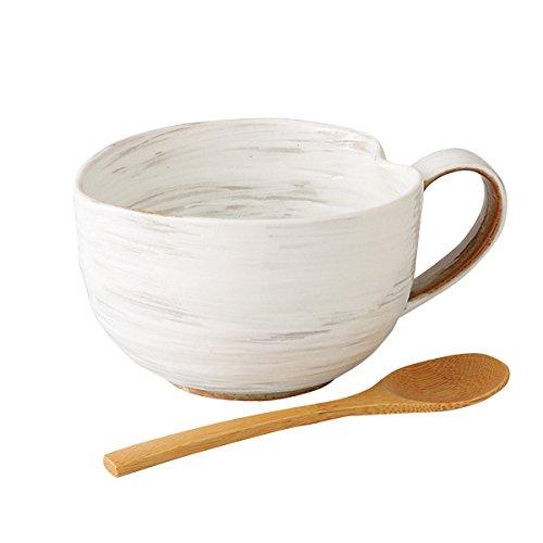粉引 納豆鉢 さじ付