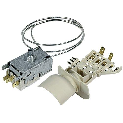 Thermostat Umbausatz mit Lampenfassung Kühlschrank Kühl-Gefrierkombination Original Whirlpool Bauknecht 484000008566 Ranco K59-S2788/500 700mm Kapillarrohr 3x6,3mm AMP Ersatz für Atea A13-0681R