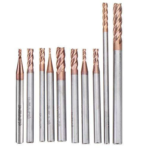 Schaftfräser AlTiN Wolframkarbid 4 Flute Schaftfräser CNC-Werkzeug HRC55 1-5mm Kohlenstoffstahl-Formstahl (Größe : 1x4x50mm)