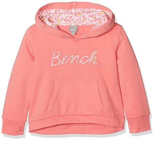 Bench Bench Mädchen Script Hoody Kapuzenpullover, Rosa (Strawberry Pink Pk11480), 164 (Herstellergröße: 13-14)