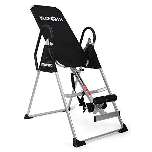 Klarfit Relax Zone Basic - Inversionsbank, Hang-Up-Rückentrainer, Rückenbank, zur Streckung der Wirbelsäule, bis 135kg, verstellbar, für alle Altersgruppen, leichte Montage, schwarz