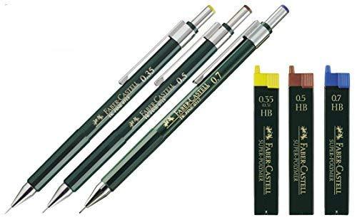 Faber-Castell Druckbleistift TK-FINE (3er Set Druckbleistifte, mit Ersatzminen HB)