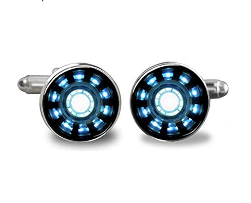 Patch Nation Iron Man Muster Cosplay Cufflinks Manschettenknöpfe