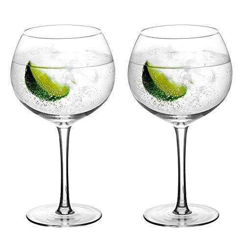 Amisglass Bicchieri Gin Tonic e Cocktail, Set 2 Pezzi Calici da Gin e Tonic, Bicchieri Copa de Balon in Vetro Cristallo Premium, 100% Senza Piombo - 700 ml
