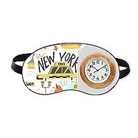 アメリカ ニューヨークリバティーシティillistration 睡眠時計旅行昼休み眼帯