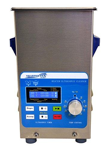 "SharperTek XPS120-2_5L Heated Ultrasonic Jewelry Cleaner, 2.7 quarts Tank Capacity, 100/120V, 50/60Hz, 750W, 7"" L x 6.43"" W x 12"" H, 12"" Height, 6.43"" Width, 7"" Length"