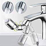 1080° Swivel Faucet Aerator, Multi-purpose Universal Tap Adapter, Kitchen Adjustable Sink Faucet Sprayer Attachment, Bathroom Mounted Sink Aerator for Face Washing