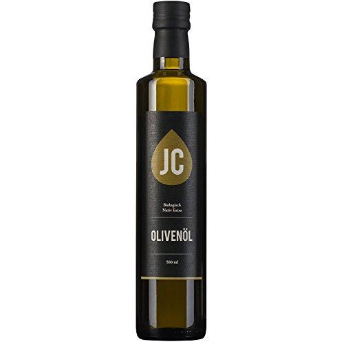 JC Huile d'Olive Biologique Extra Vierge - Kalamata AOP en 3 conteneur - 500ml