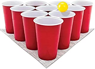 PRIMART.RETAIL SET OF 10 Beer Pong Glass| Red Drinking Cup | Drinking glass for party |Party Glasses| RE-USABLE BEER PONG ...