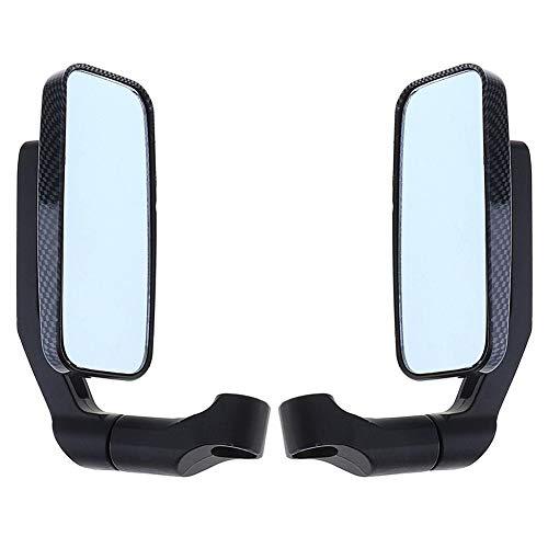 Specchietti Retrovisori Laterali per Moto 10 mm / 8 mm con Lente Blu Modificato Sportive Manubrio Quadrato Universale Adatto per la Maggior Parte delle Moto