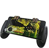 Bastex Mobile Game Controller Cell Phone Grip with Trigger Buttons and Joystick Bundle for Mobile Shooting Games Compatible with iPhone Android
