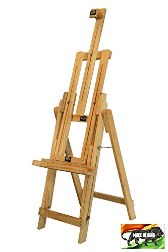 POPULAR Multi-Function Wooden Studio Easel KraftoW2500 – Ideal for Paintings and Art & Craft - for Canvas Boards, Drawing Boards, Display Media, etc. – for Artists, Kids, Adults, Enthusiasts, etc.
