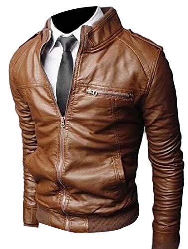 A&H Apparel Mens Genuine Cowhide Leather Vest Biker Vest Concealed Carry Durable Vest (Medium)