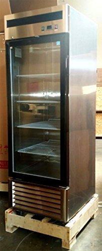 27' 1 Door Upright Stainless Steel Glass Window Reach In Freezer Merchandiser Display Case, MCF-8701, 21 Cubic Feet, Commercial Grade