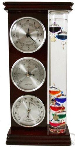 Ambient Weather WS-YG709 ガリレオ 温度計 気圧計 湿度計 クォーツ時計天気ステーション(シルバー)