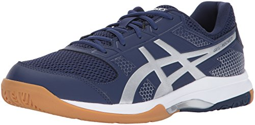 ASICS Mens Gel-Rocket 8 Volleyball Shoe, Indigo Blue/Silver/White, 12 Medium US