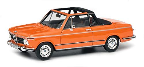 Schuco 450908600, orange BMW 2002 Cabrio, Baur, Resin, Modellauto, 1:43