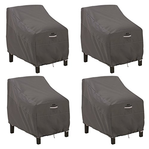 Classic Accessories 55-422-015101-4PK Ravenna Water-Resistant 38 Inch Deep Seated Patio Lounge Chair Cover, 4 Pack,Taupe,Deep Seat Lounge Chair, 4 Pack
