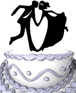 Meijiafei Mr and Mrs Swing Dancing Custom Wedding Cake Topper