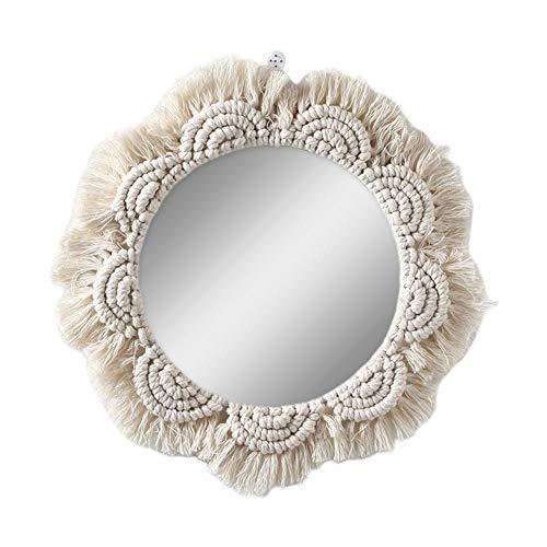 Spiegel Klein Wanddeko Wohnzimmer Haus und Schlafzimmer Spiegel Wand zum Aufhängen und Dekorieren Spiegel Vintage Originelles Geschenk für Frauen und Mama