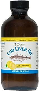 Virgin Cod Liver Oil - Natural, Wild Caught & Fresh Tasting (Lemon Flavored)