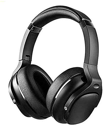 XUERUIGANG Auriculares inalámbricos, auriculares con MIC, 30H Tiempo de juego, Bluetooth 5.0, Plegable, sonido de alta fidelidad, Bajo profundo, Earpads de proteínas cómodas, Para TV, PC, teléfono cel