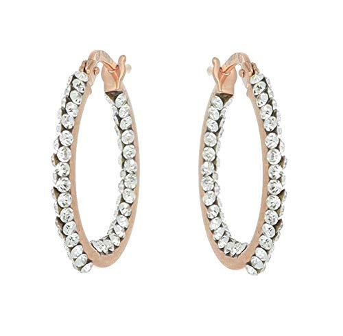 Pendientes clásicos para mujer con cristales de Swarovski.