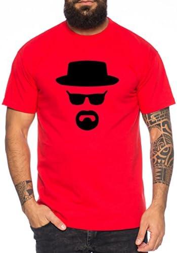 Heisenberg Camiseta de Hombre Hermanos Bad Mr White Breaking