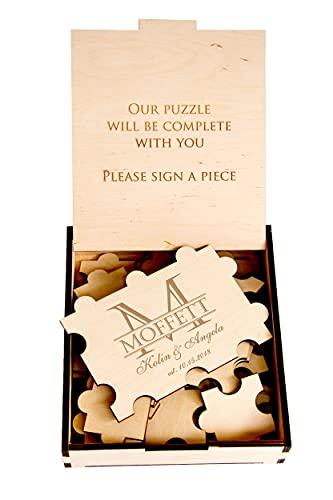 Puzzle Piece Wedding Guest Book Alternative