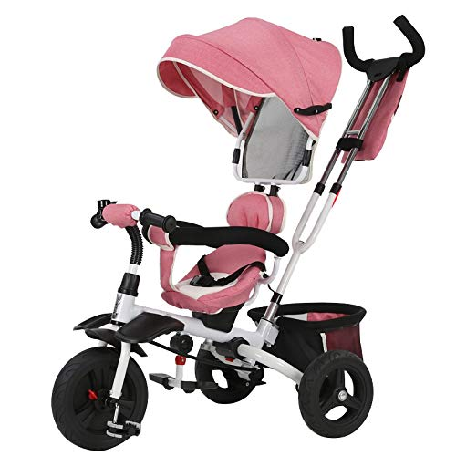Buy Discount YUMEIGE Kids' Tricycles Kids Tricycle 1-6 Years Old Birthday Gift Tricycle Load Weight ...