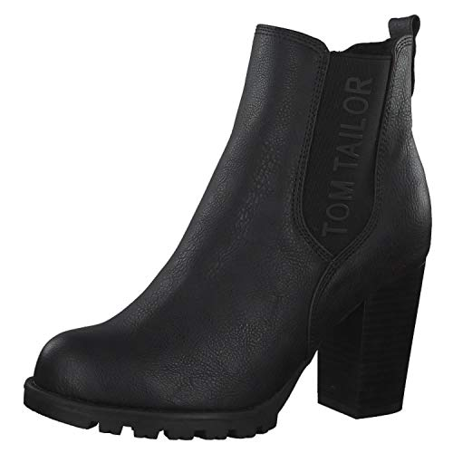 TOM TAILOR Damen 7990204 Stiefeletten, Schwarz (Black 00001), 41 EU