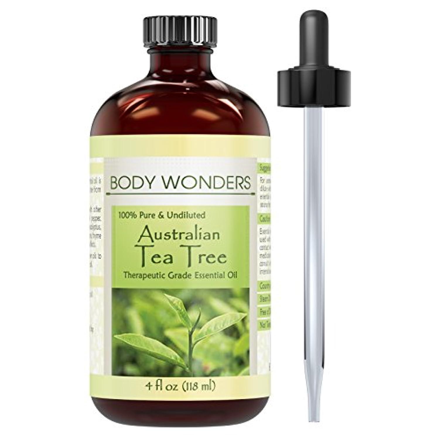 Body Wonders 100% Pure Australian Tea Tree Oil –4 fl oz Bottle- Finest of Essential Oils from Australia for Aromatherapy