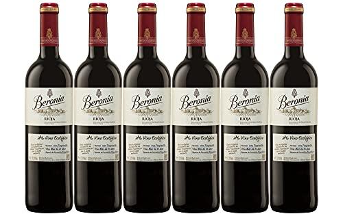 Beronia Ecológico Crianza - Vino D.O.Ca. Rioja - 6 botellas de 750 ml - Total: 4500 ml