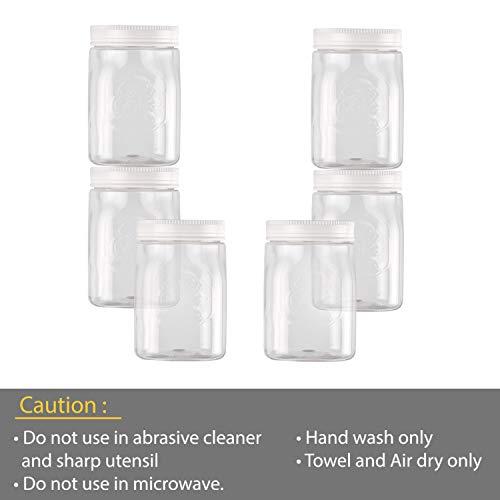 Cello Plastic Storage Container - 750 ml, Set of 6, White