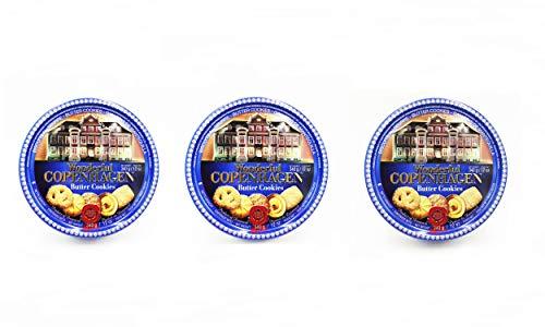 3 Wonderful Copenhagen: 3 Scatole da 340GR degli originali biscotti danesi al burro