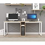 Escritorio doble para computadora de 78 pulgadas extra grande oficina en casa escritorio multifunción mesa de trabajo para oficina en casa