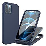 iPhone 12 6.1 Case Protective Apple iPhone12 Cover with Precise Cut Outs, Soft TPU & Rugged PC, Anti-Scratch, Dust Proof & Shock Proof, Stylish and Lightweight Smartphone Cases, (Dark Blue)