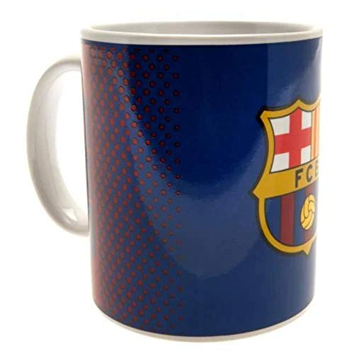 MERCURY Taza Mug Diseño F.C. Barcelona, Cerámica, Azul Marino, 8.0x8.0x9.0 cm